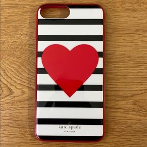 Kate Spade iPhone 7 & 8 plus Valentine's Day case